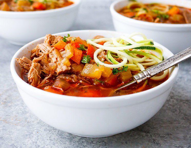 Brisket Medley Zoodle Soup